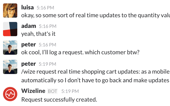 Wizeline Request from Slack