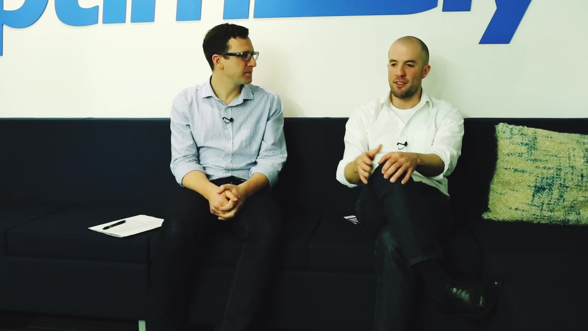 Wizeline's Matt Pasienski and Optimizely's Pete Koomen